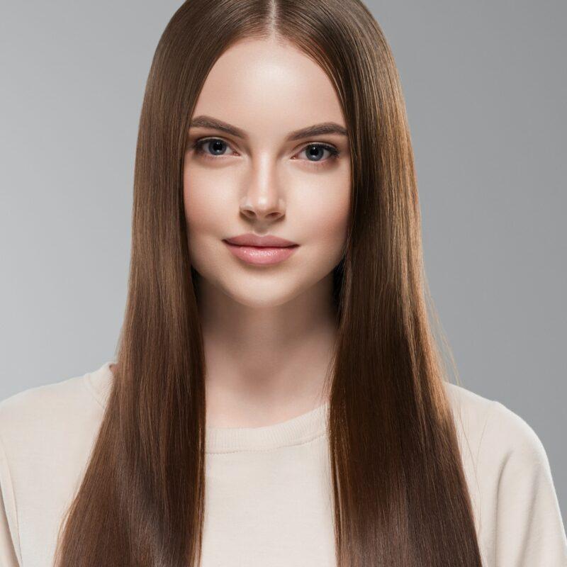 Beautiful hair women brunette long hair beauty hairstyle female portrait healthy skin
